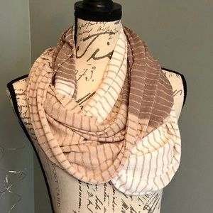 LOFT neutral color infinity scarf